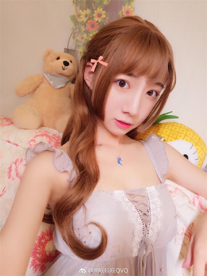 妹子图:@南咲咲咲QVQ,一位美貌与身材并重的女孩!